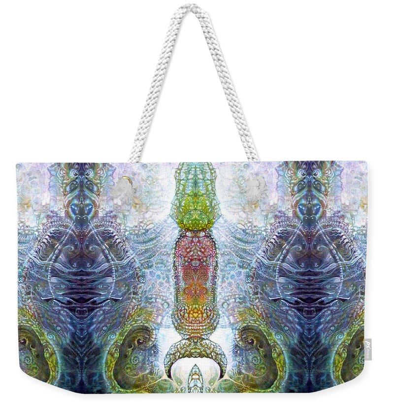 \bogomil Variations\ \otto Rapp\ \ Michael F Wolik\ Weekender Tote Bag featuring the digital art Bogomil Variation 13 by Otto Rapp