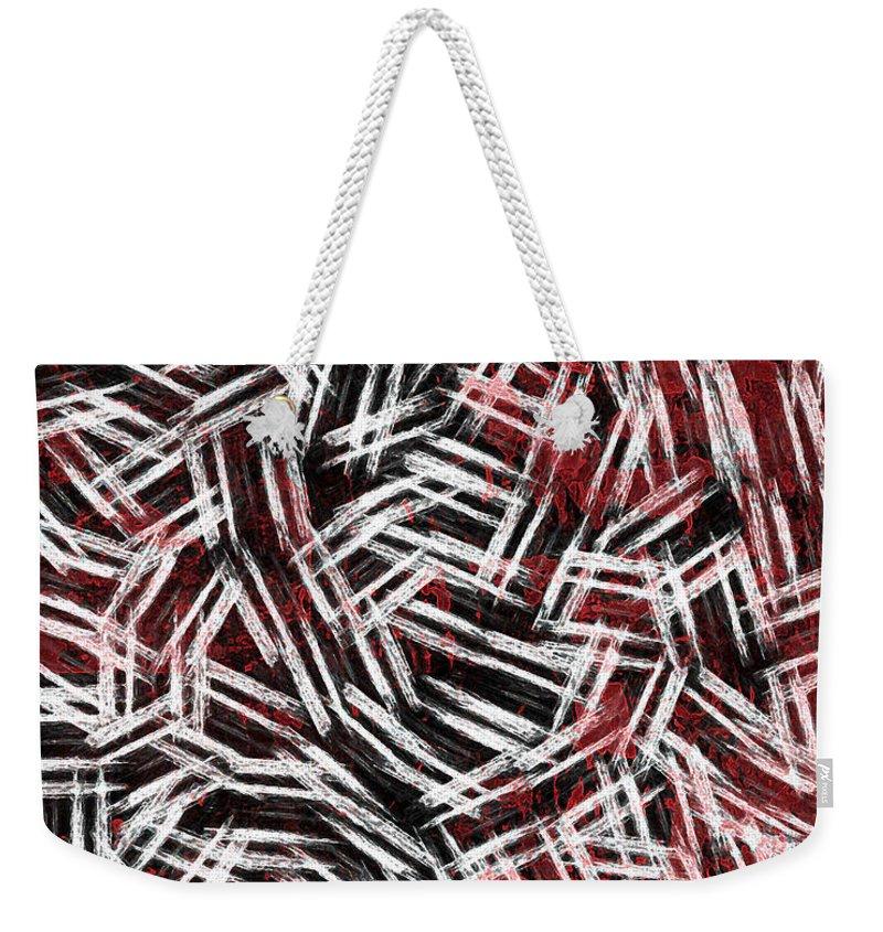Bold Weekender Tote Bag featuring the digital art Bold Statement by Rhonda Barrett
