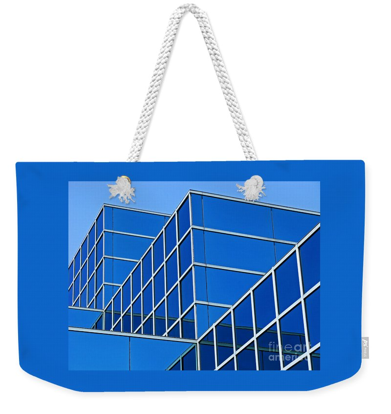 Building Weekender Tote Bag featuring the photograph Boldly Blue by Ann Horn