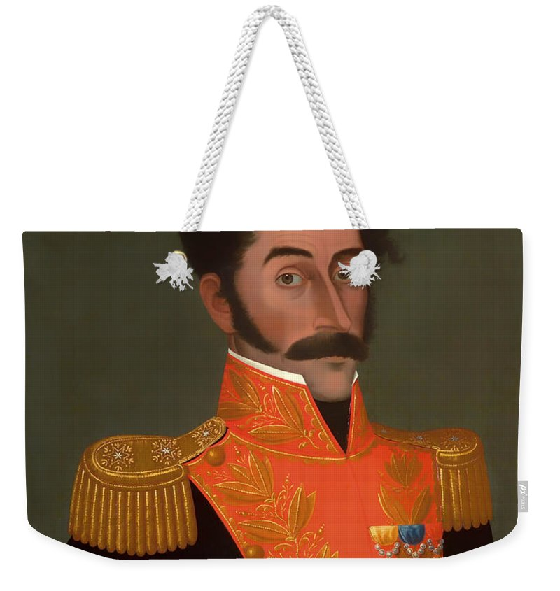 Painting Weekender Tote Bag featuring the painting Bolivar by Mountain Dreams