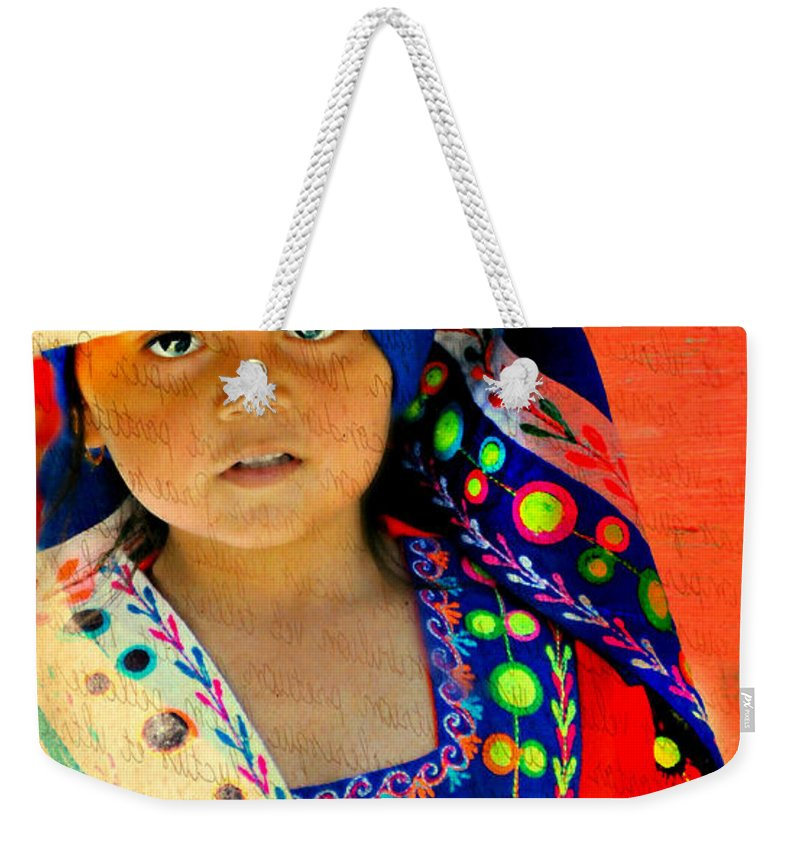 Portrait Weekender Tote Bag featuring the photograph Bolivian Child by Diana Angstadt