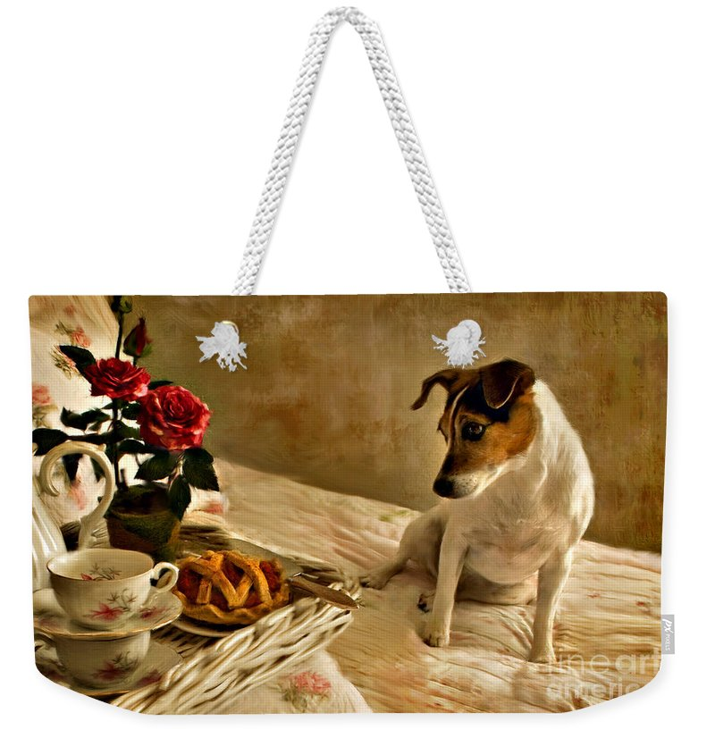 Weekender Tote Bag featuring the photograph Bon Appetit by Jean Hildebrant