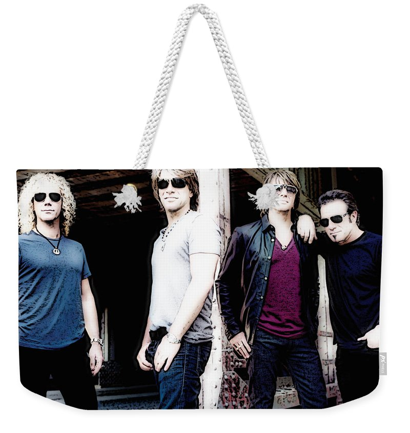 Singers Weekender Tote Bag featuring the photograph Bon Jovi by Lyriel Lyra