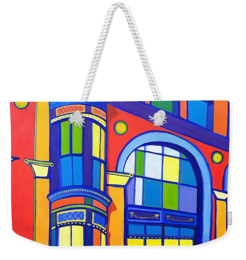 Cat Weekender Tote Bag featuring the painting Bon Marche Cat by Debra Bretton Robinson