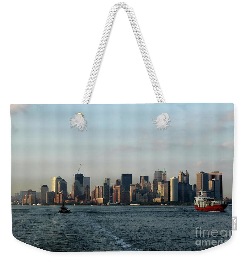 Tug Weekender Tote Bag featuring the photograph Bon Voyage by Christiane Schulze Art And Photography