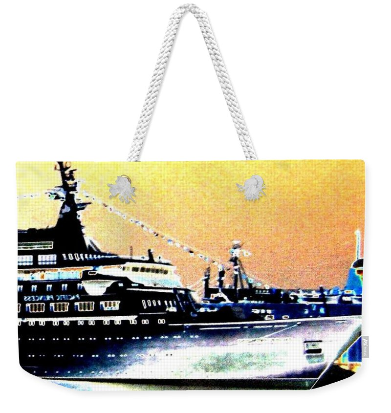 Bon Voyage Weekender Tote Bag featuring the digital art Bon Voyage by Will Borden