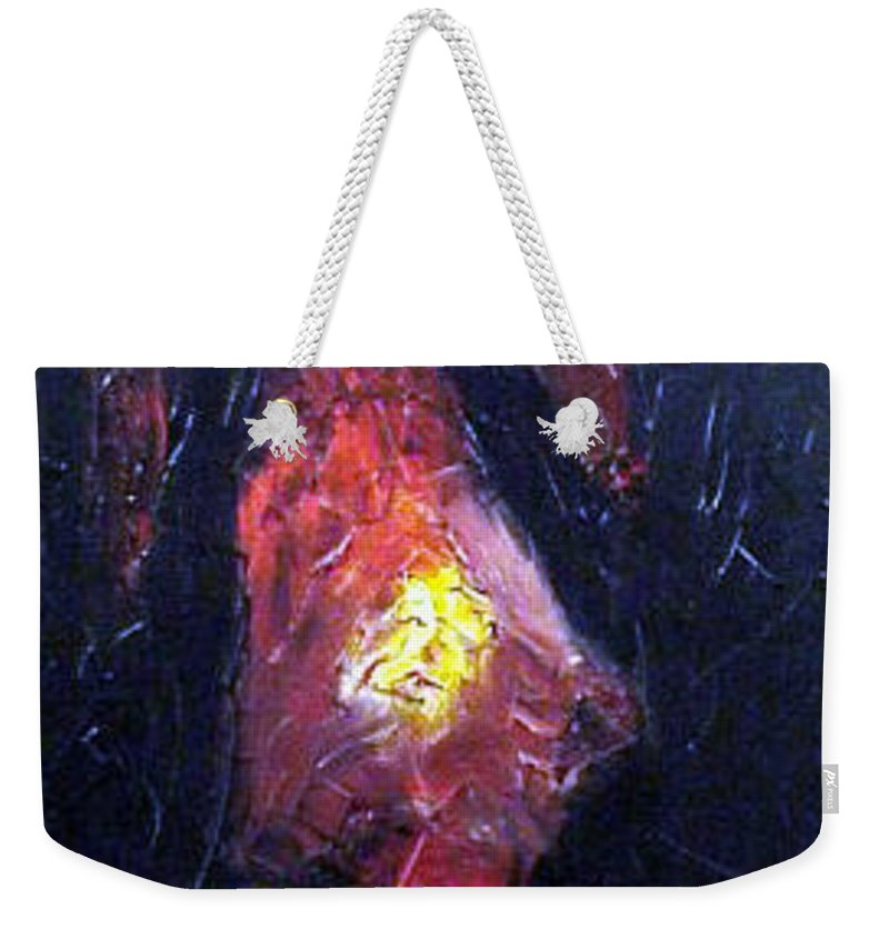 Landscape Weekender Tote Bag featuring the painting Bonefire by Sergey Bezhinets