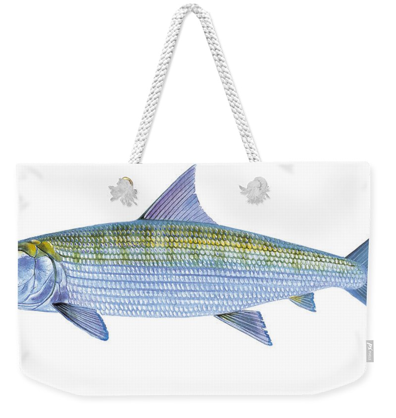 Bonefish Weekender Tote Bag featuring the painting Bonefish by Carey Chen