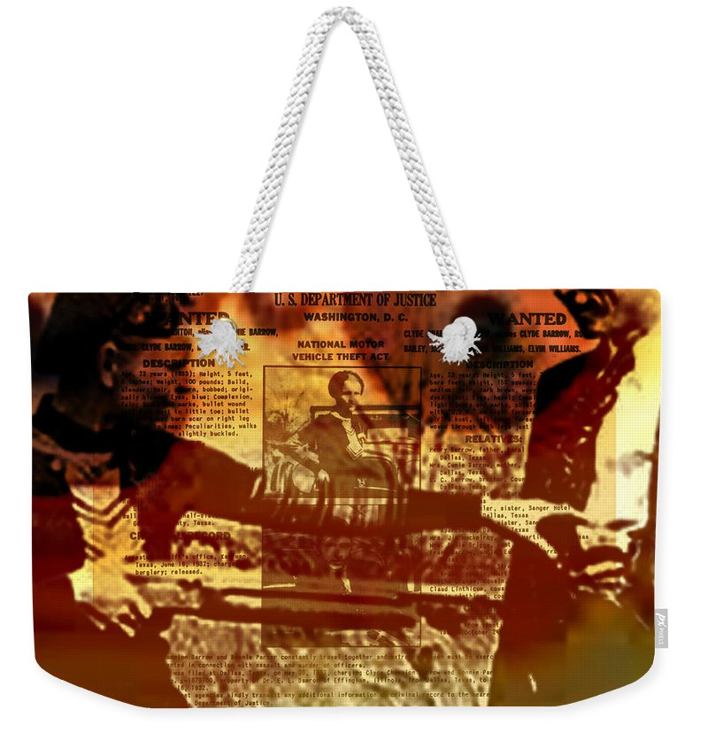 Fractal Art Weekender Tote Bag featuring the digital art Bonnie And Clyde by Elizabeth McTaggart