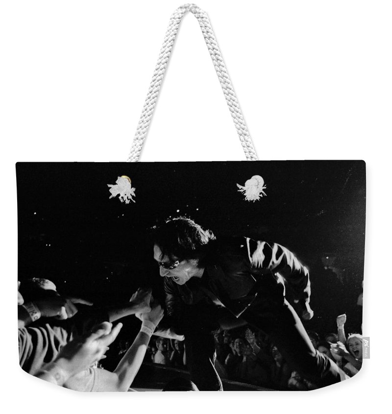 Bono Weekender Tote Bag featuring the photograph Bono 051 by Timothy Bischoff