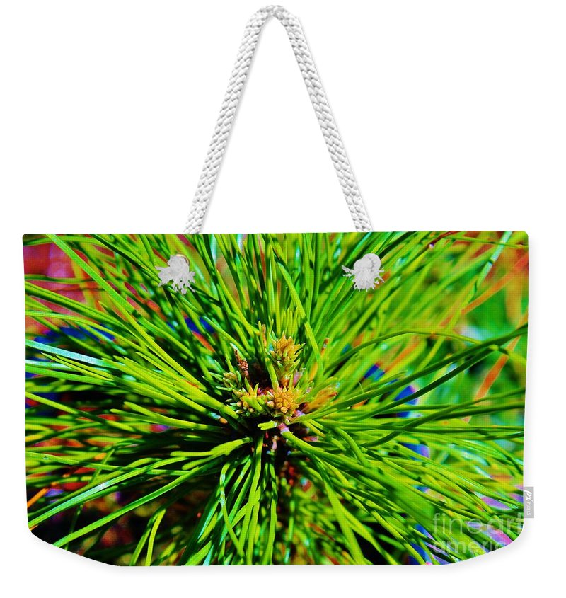 Keri West Weekender Tote Bag featuring the photograph Bonzi Pine by Keri West