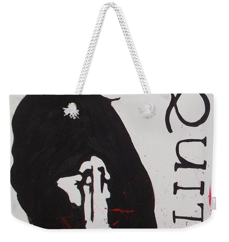 Boondock Saints Weekender Tote Bag featuring the painting Boondock Saints Panel One by Marisela Mungia