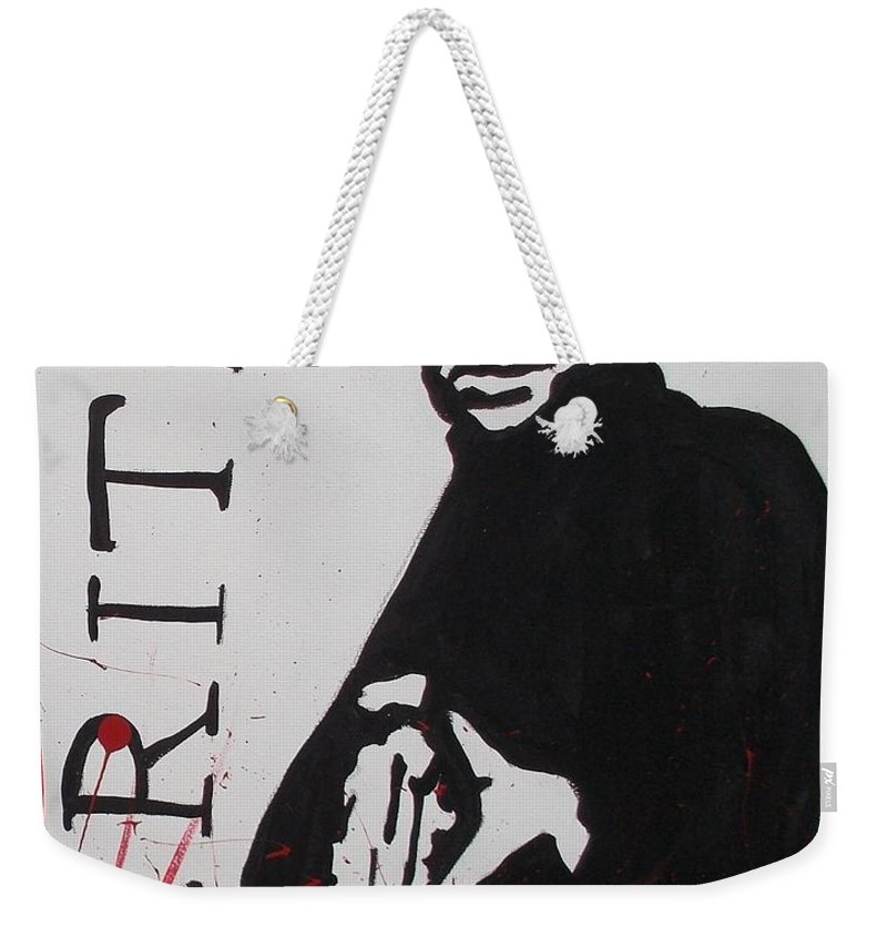 Boondock Saints Weekender Tote Bag featuring the painting Boondock Saints Panel Two by Marisela Mungia