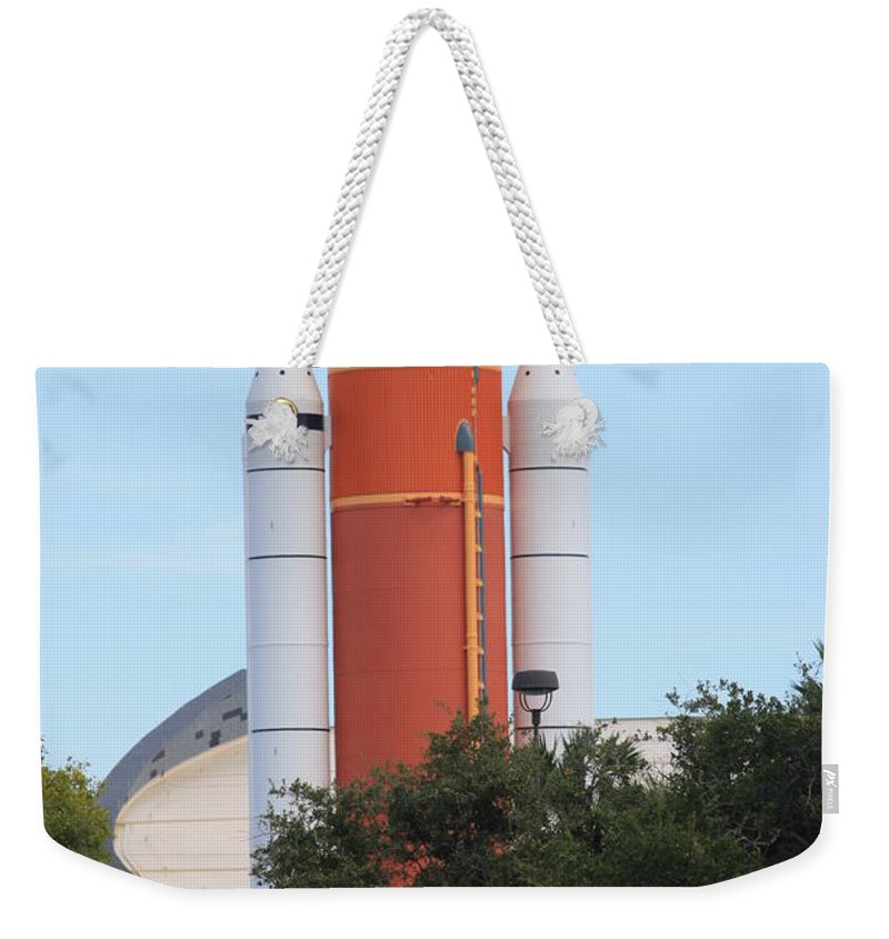 Quartet Weekender Tote Bag featuring the photograph Booster by Chuck Hicks