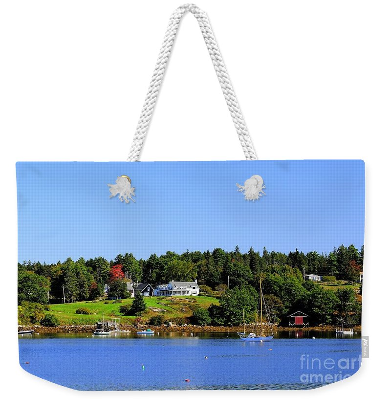 Booth Weekender Tote Bag featuring the photograph Booth Bay by Kathleen Struckle