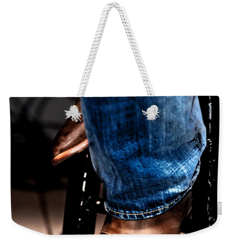 Christopher Holmes Photography Weekender Tote Bag featuring the photograph Boots 2 by Christopher Holmes