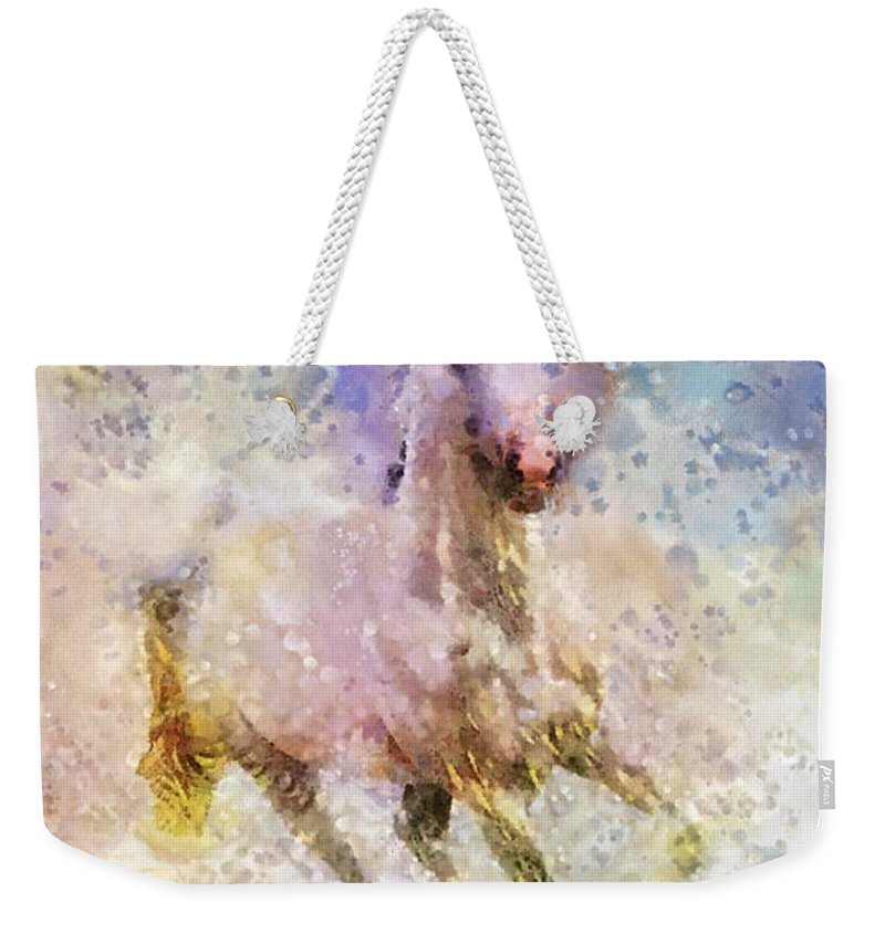 Born To Be Wild Weekender Tote Bag featuring the painting Born To Be Wild by Mo T