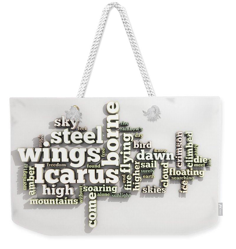 Borne Weekender Tote Bag featuring the digital art Borne On Wings Of Steel by Scott Norris