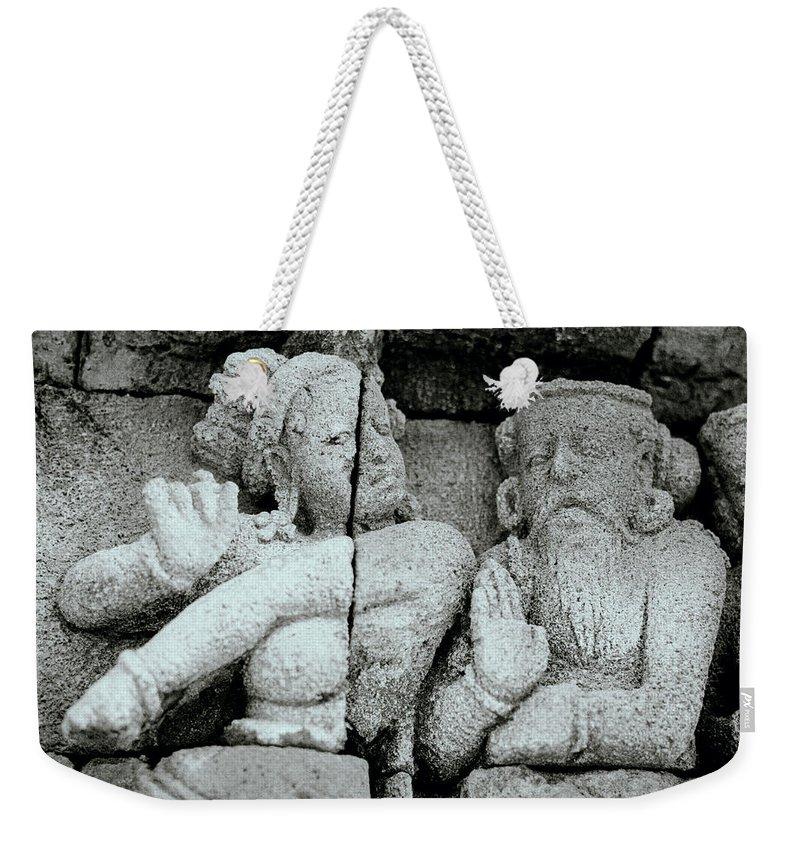 Art Weekender Tote Bag featuring the photograph Borobudur Apsara Dancer by Shaun Higson