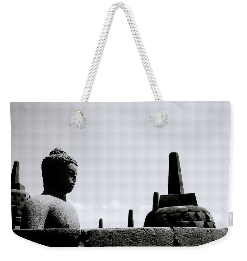 Borobudur Weekender Tote Bag featuring the photograph The Meditation Of The Buddha by Shaun Higson