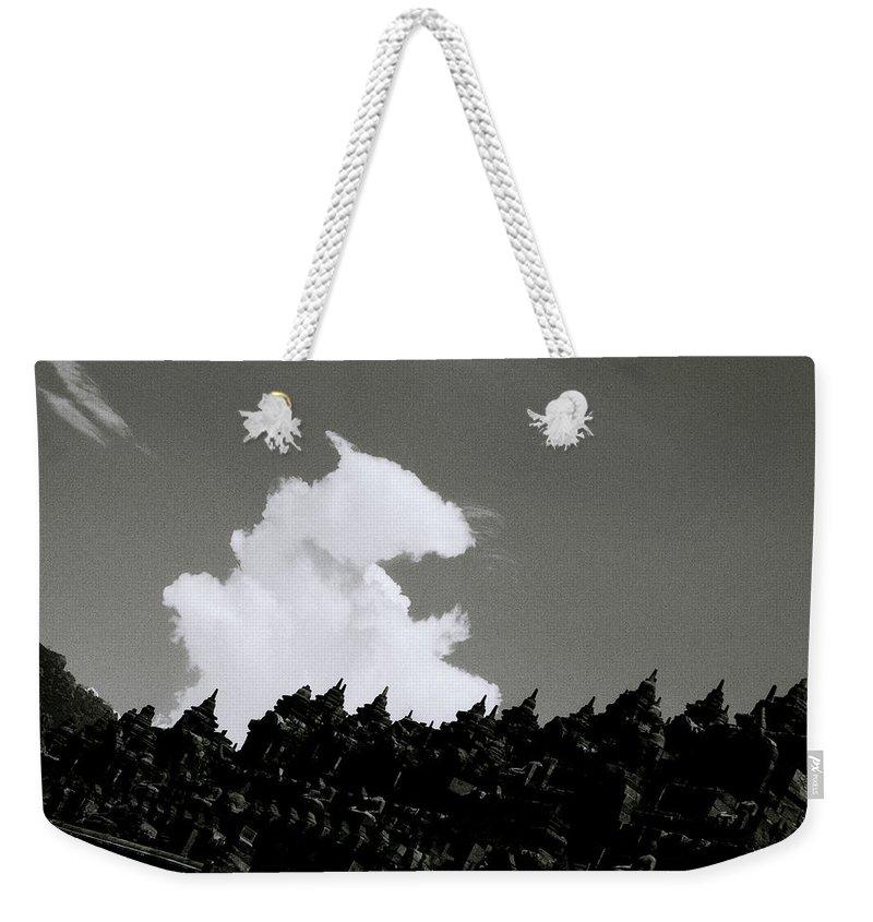 Borobudur Weekender Tote Bag featuring the photograph Borobudur Sky Cloud by Shaun Higson
