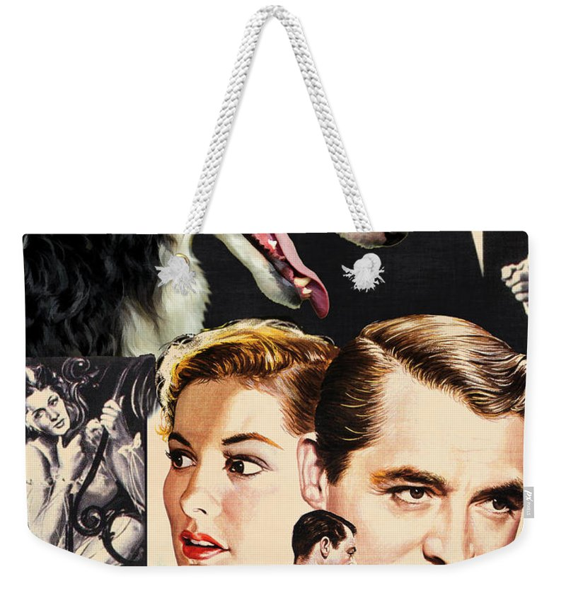Dog Weekender Tote Bag featuring the painting Borzoi Art - Suspicion Movie Poster by Sandra Sij
