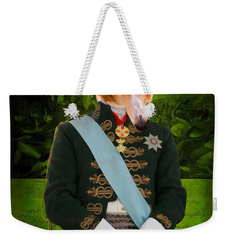 Weekender Tote Bag featuring the painting Borzoi by Sandra Sij