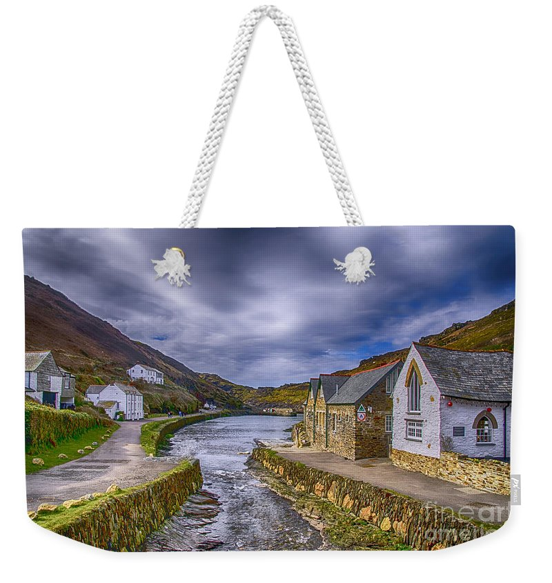 Boscastle Harbour Weekender Tote Bag featuring the photograph Boscastle Harbour by Chris Thaxter