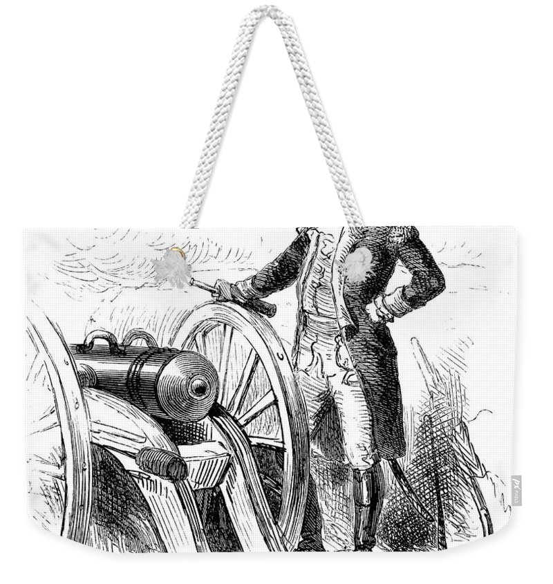 1776 Weekender Tote Bag featuring the photograph Boston: British Evacuation by Granger