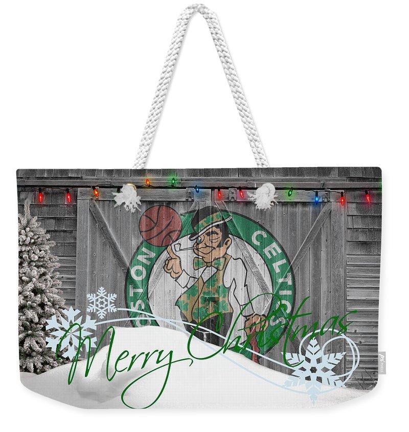 Celtics Weekender Tote Bag featuring the photograph Boston Celtics by Joe Hamilton