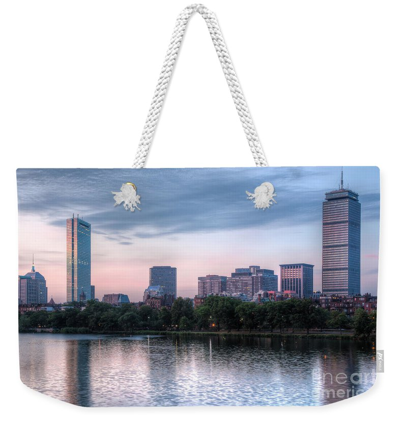 Clarence Holmes Weekender Tote Bag featuring the photograph Boston Skyline IIi by Clarence Holmes