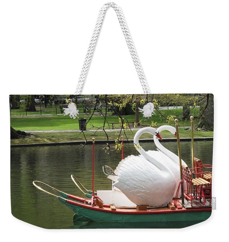 Swan Boats Weekender Tote Bags