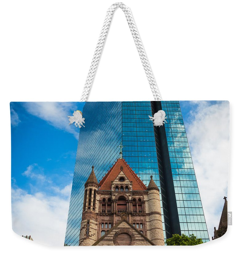 America Weekender Tote Bag featuring the photograph Boston Trinity Church by Inge Johnsson