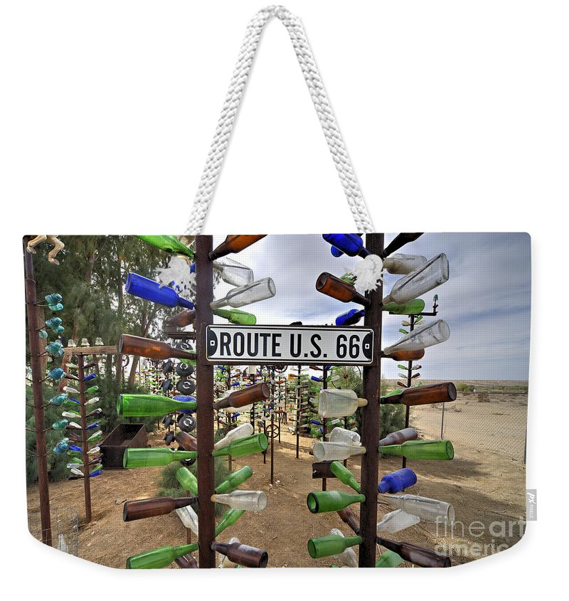 Bottle Weekender Tote Bag featuring the photograph Bottle Ranch by Rob Hawkins