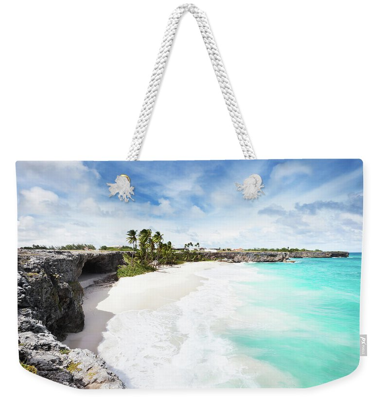 Scenics Weekender Tote Bag featuring the photograph Bottom Bay, Barbados by Tomml