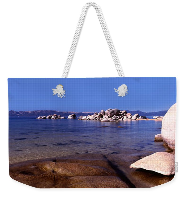 Photography Weekender Tote Bag featuring the photograph Boulders At The Coast, Lake Tahoe by Panoramic Images