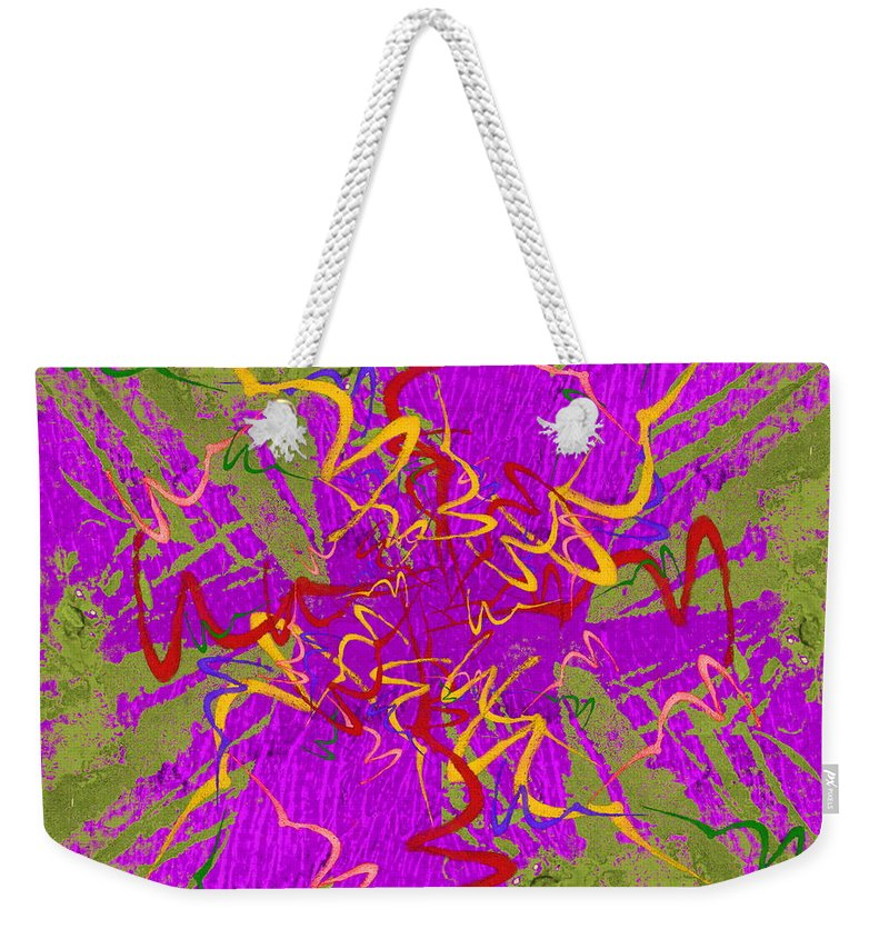 Bounce Weekender Tote Bag featuring the digital art Bounce by Tim Allen