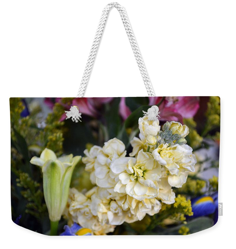 Exotic Weekender Tote Bag featuring the photograph Bouquet Flower by Brent Dolliver