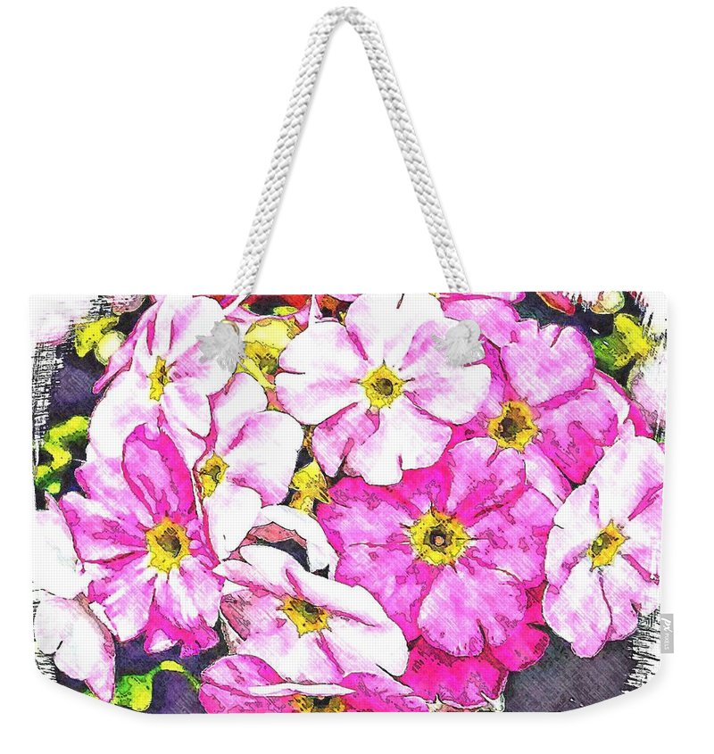 Floral Weekender Tote Bag featuring the photograph Bouquet Of Pink by Joyce Baldassarre