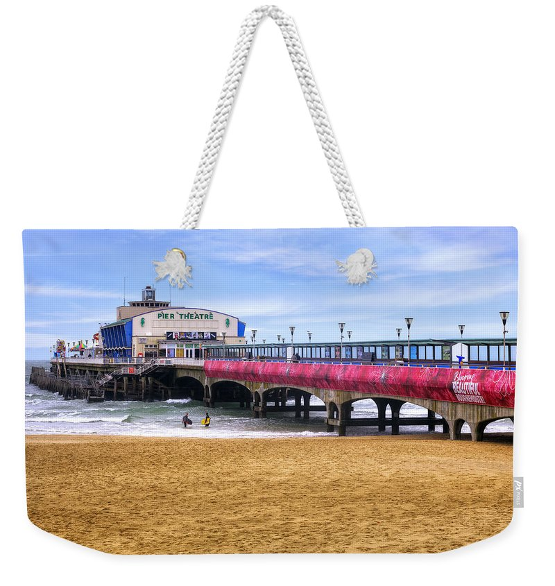 Bournemouth Weekender Tote Bag featuring the photograph Bournemouth Pier by Joana Kruse
