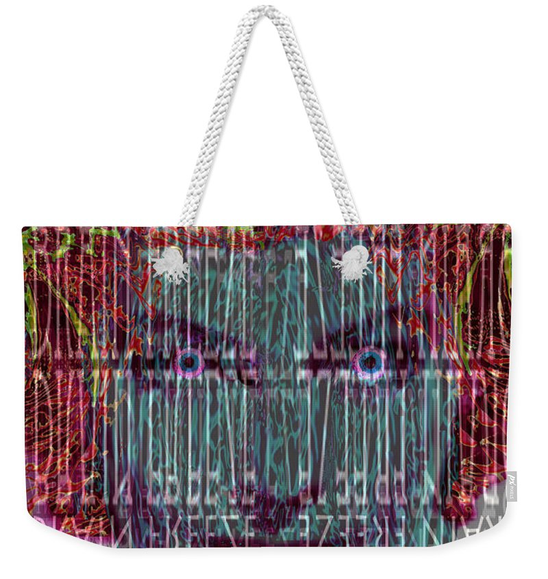 Brain Freeze Weekender Tote Bag featuring the digital art Brain Freeze by Seth Weaver