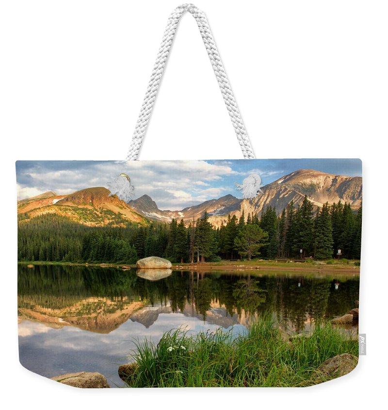 Brainard Lake Weekender Tote Bag featuring the photograph Brainard Lake Reflections by Ronda Kimbrow