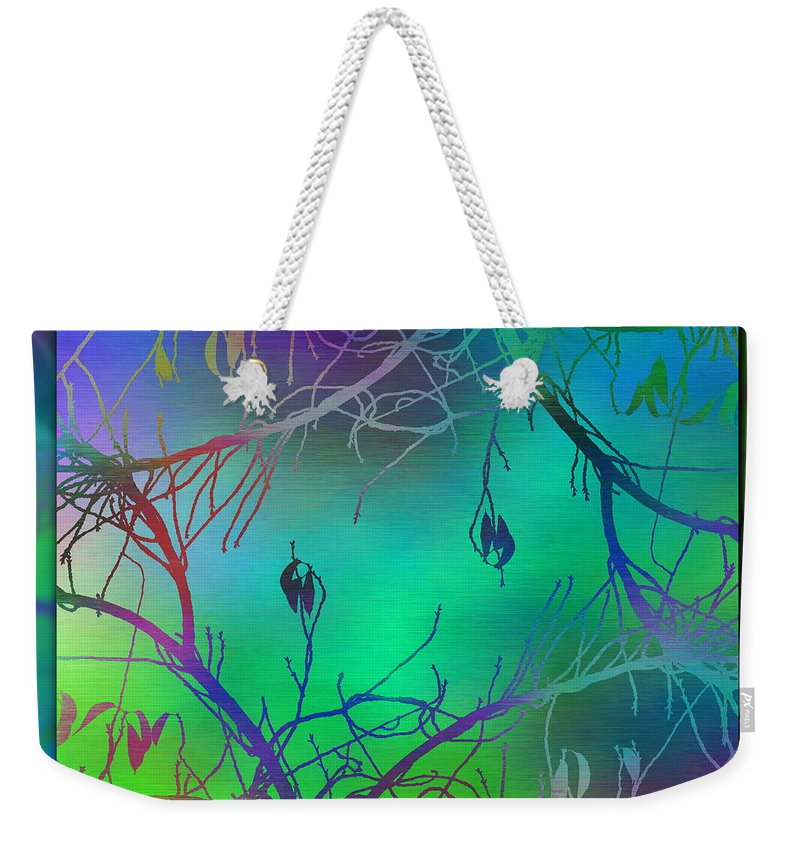 Abstract Weekender Tote Bag featuring the digital art Branches In The Mist 35 by Tim Allen