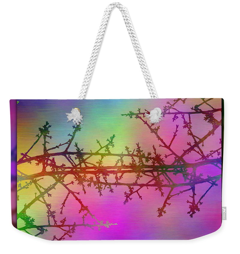 Abstract Weekender Tote Bag featuring the digital art Branches In The Mist 36 by Tim Allen