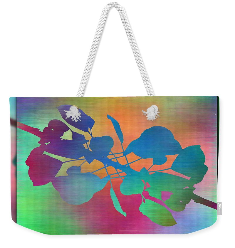 Abstract Weekender Tote Bag featuring the digital art Branches In The Mist 37 by Tim Allen