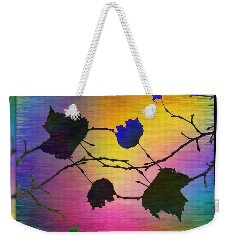 Abstract Weekender Tote Bag featuring the digital art Branches In The Mist 71 by Tim Allen