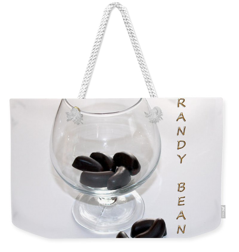 Brandy Weekender Tote Bag featuring the photograph Brandy Beans - Liqueur - Chocolate by Barbara Griffin