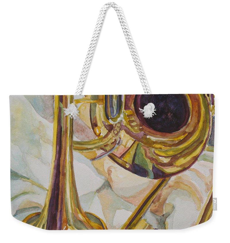 Trombone Weekender Tote Bags