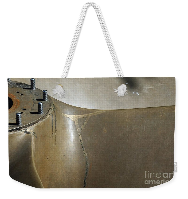 War Weekender Tote Bag featuring the photograph Brass Spin by Randi Grace Nilsberg