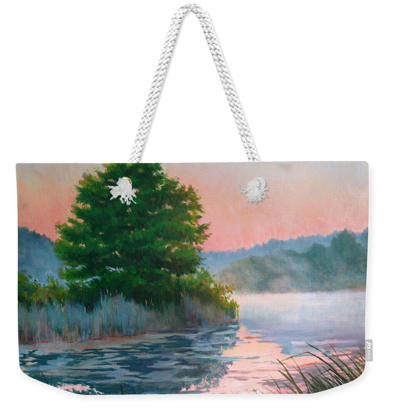 Impressionism Weekender Tote Bag featuring the painting Break Of Day by Keith Burgess